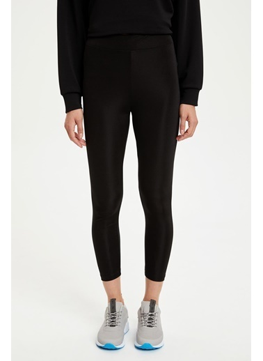 DeFacto Basic Slim Fit Spor Taytı Siyah